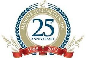 MSI Wahoo Docks aluminum dock dealer Gainesville GA 25th Anniversary Logo