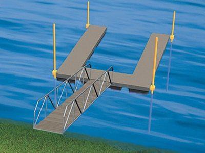 piles dock anchoring method