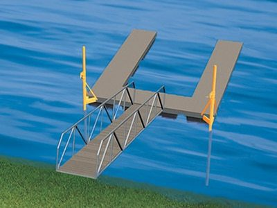 pole sleeve dock anchoring method