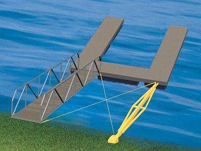stiff arm dock anchoring method