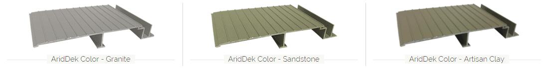 AridDek Aluminum Decking Colors