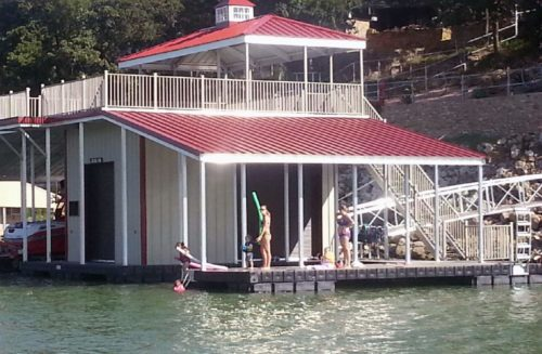 Wahoo Docks Boat House