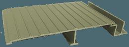 Wahoo Docks AridDek aluminum dock decking Sandstone