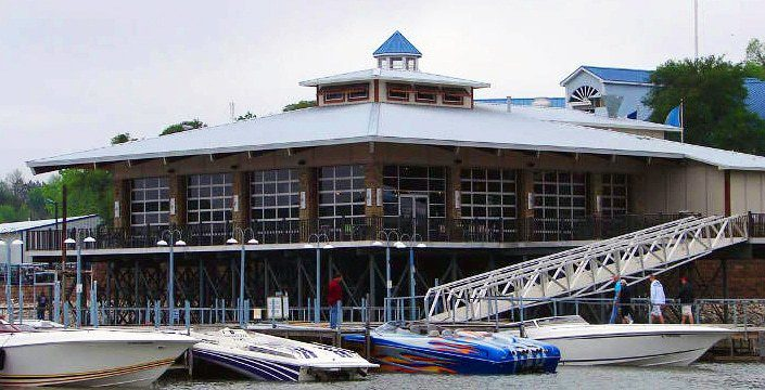 v Highport Marina Floating Bar Texas