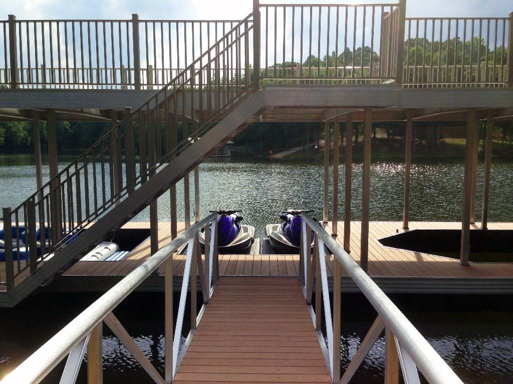 aluminum dock railing with pickets