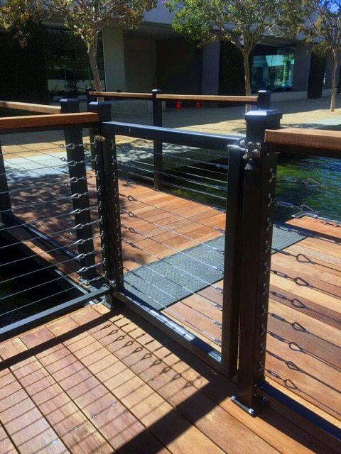 wahoo cable boat dock railing 01