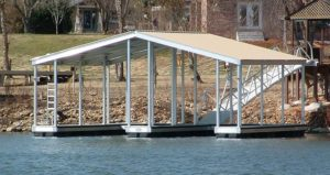wahoo docks double slip docks gallery - aluminum docks