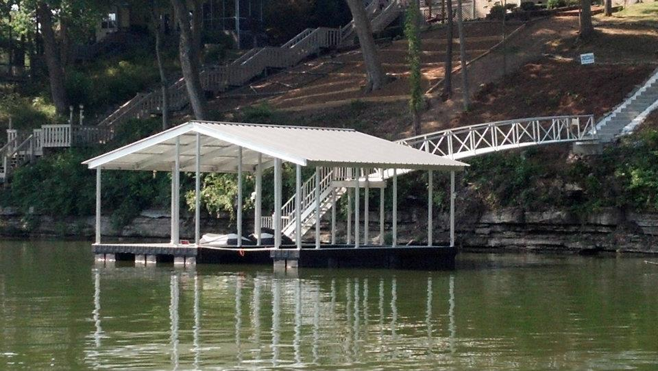 new cat5 floating dock from dockscapes on tims ford