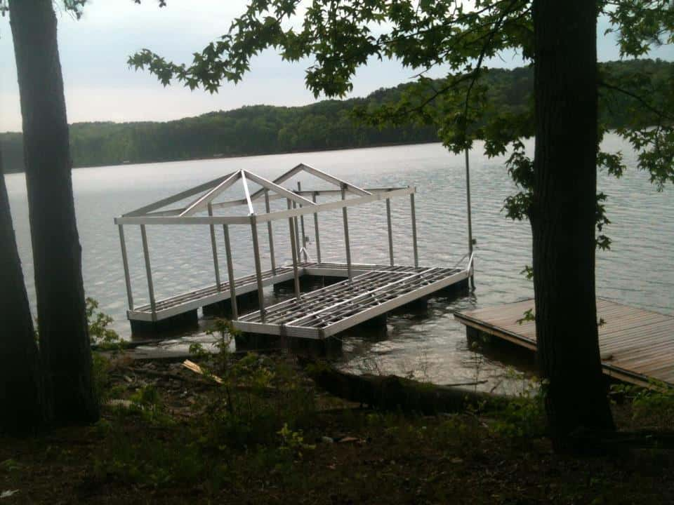 Casey Custom Docks Builds Wahoo CAT 3 Aluminum Floating Boat Dock on Lake Allatoona